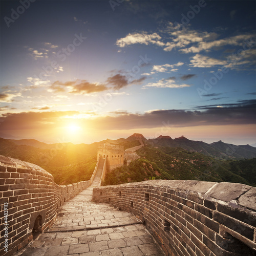 Tuinposter Chinese Muur greatwall