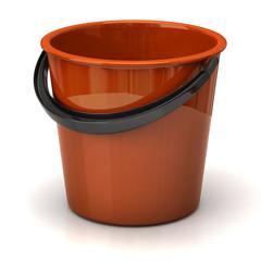 Orange bucket isolated on white background
