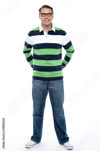 Full length shot of handsome casual male model