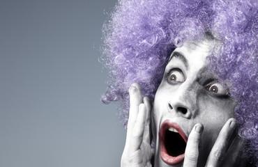 Afraid clown