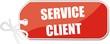 étiquette service client