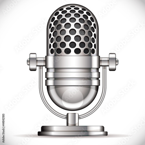 Retro microphone vector illustration.