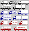 set of delivery trucks