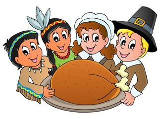 Thanksgiving pilgrim theme 3