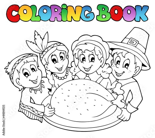 Poster Doe het zelf Coloring book Thanksgiving image 3