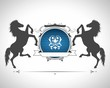 Vintage emblem with horses with a place for Your text