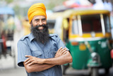 Fototapety Indian auto rickshaw tut-tuk driver man
