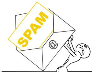 figur wehrt sich gegen spam