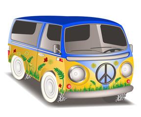 hippie van.