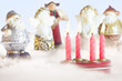 Christmas Figurines and Candles