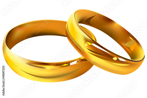 Couple of gold wedding rings