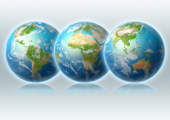 globe, worlds, Asia, USA, clouds, grey, reflection