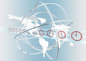 map, world, concept, time zones, clock faces, symbols