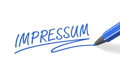 Stift- & Schriftserie: Impressum - blau