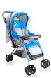 Baby pram carriage on white