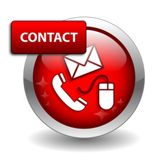 """CONTACT"" Web Button (call us customer service details hotline)"