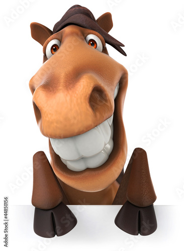 Poster Boerderij Fun horse