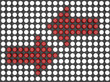Double Red Arrow Made by Sphere Arrays
