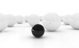 Black and White Sphere - Isolated on White Background