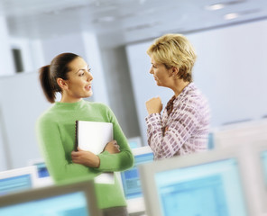 Businesswoman talking together in office