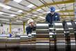 Engineer working on metal machinery