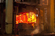 Molten forged steel in furnace