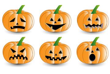 Pumpkin for halloween set