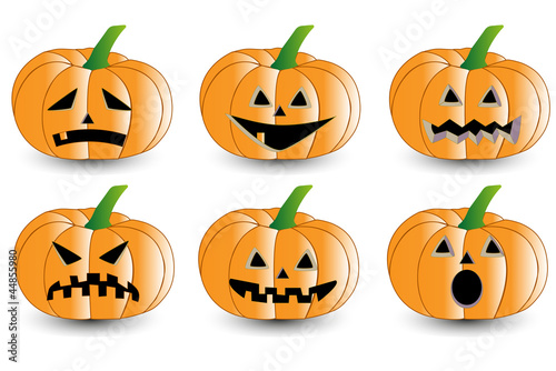 Pumpkin for halloween set