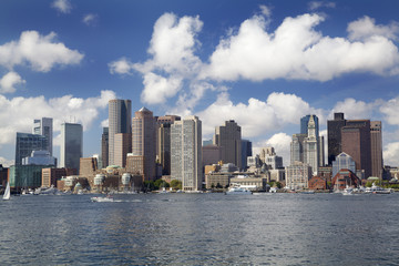 Boston skyline and Inner Harbor, USA