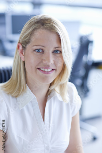 Portrait of smiling blonde  businesswoman
