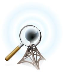 Antenne à la loupe (ombre)