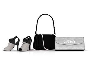 Schuhe, Kette, Taschen