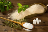 Sugar or stevia sweetener