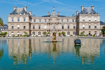 Luxembourg Palace frontal view, Paris