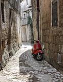 Boczna uliczka. Calcata. Lacjum. Włochy.