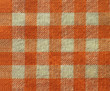 Orange checkered canvas texture - fabric background