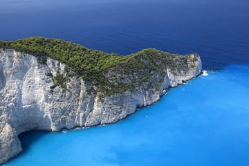 Blue lagoon, island paradise. Ionic Sea of Greece Zakynthos, pop