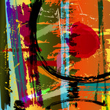 Fototapety abstract background illustration, paint strokes and splashes