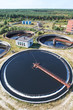 Huge circular sedimentation tank  Water settling, purification