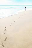 Fototapety Footprints on the beach