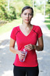 Läuferin mit Wasserflasche