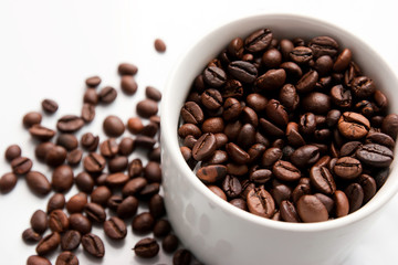 Coffee beans and Coffe Cup
