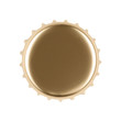 Blank gold bottle cap isolated on white with path