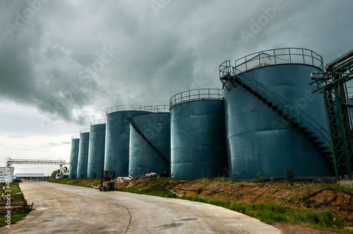 Picture of storage tanks
