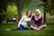 Young Women Using laptop