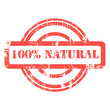 100% Natural stamp