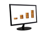 coins in monitor