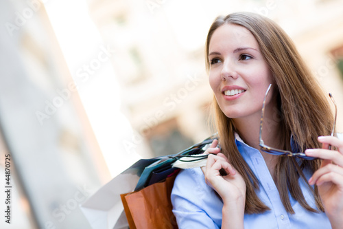 Beautiful female shopper