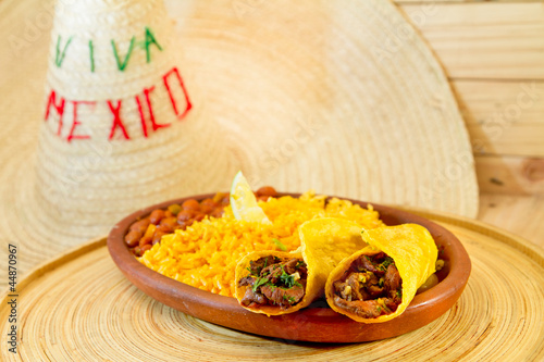 traditional mexican food beef fajitas