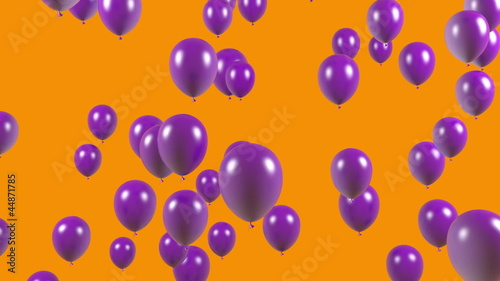 Abstract flying ballons loopable with alpha mask
